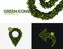 Green 3d Icons