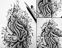 Beauty (Arabic Calligraphy & Doodle)