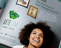 Anúncio de Revista | ArteUm - Quadros e Design