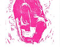 B-boy Nasso linocut