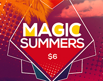 Magic Summer Party Flyer