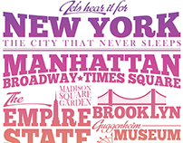New York - a typographic poster