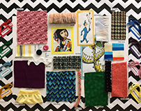 Childrenswear Collection Fabric Board