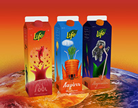 Life Juice Packaging Illustration