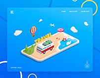 Freebie - Travel Landing Free PSD