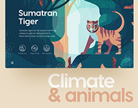 Climate & Animals: Extinction Crisis Website UI/UX