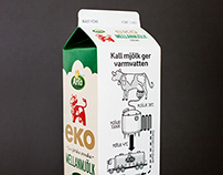 Milk carton illustrations