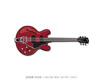 Gibson ES330 • Hollow Body Guitar (1965)