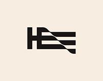 HE flag logo Design