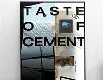TASTE OF CEMENT - POSTER