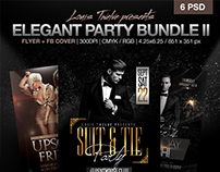 Elegant Party Bundle V2 Flyer + FB Covers