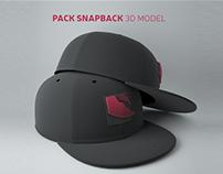 Pack Snapback 3D Model
