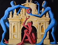 """LE TRE MOIRE"" - Live painting - Foggia - Italy"