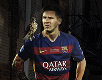 Messi in Alleyway - Photo Manipulation