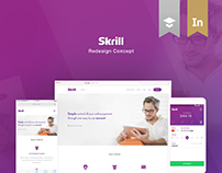 Skrill Redesign Concept | Full Project.