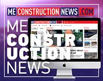 Me Construction News Website Design