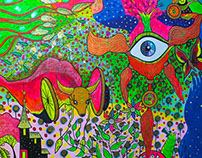 Psychedelic wall