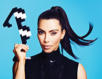 Kim Kardashian for AdWeek
