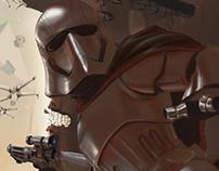 Star Wars Cpt. Phasma in the Battle of Jakku
