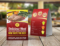 Restaurant and Cafe Table Tent Template Vol11
