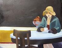 Edward Hopper Automat Painting Project