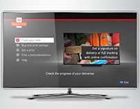 Concept Royal Mail app for internet enabled TV/STBs