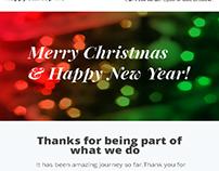 Christmas Email Newsletter