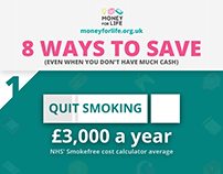 Infographic - Money saving tips for Moneyforlife.org.uk
