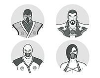 Mortal Kombat Icon Designs