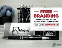 My Metal Business Card Free Branding Promo