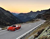 Ferrari F40 X The Alps
