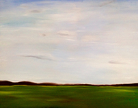 Landscape oil painting on canvas for residential space.