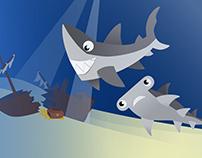 Sharks postcard