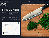 Find Us Slider - Food WordPress Theme