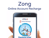 Zong Account Recharge Online | Redesign