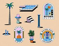 Riviera Hotel - Brand identity