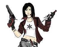 Жіночий персонаж для гри. Любителька холодної зброї