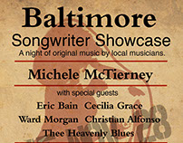 Baltimore Songwriter Showcase Series posters