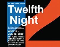 Twelfth Night Poster - Massimo Vignelli-Inspired