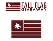 University Bookstore at Texas State Fall Flag Giveaway