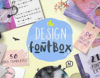 Design FontBox - fonts, templates and textures bundle