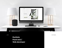 Portfolio Front-end / Web developer