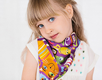 "Children's collection of silk scarves ""Dreams"""