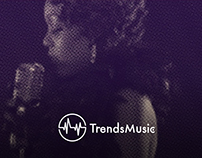 A logo for TrendsMusic.