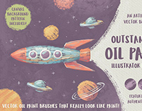 Outstanding Oil Paint Illustrator Brushes