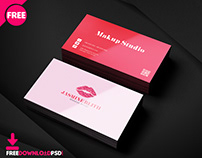 Makeup Artist Business Card PSD Template