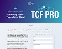 Landing page TCF Pro