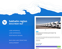UI&UX for investment map of Sakhalin region