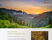 Hound Ears Club homepage design