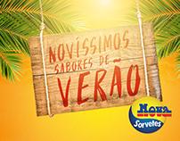Nova Sorvetes | Campaign and Menu